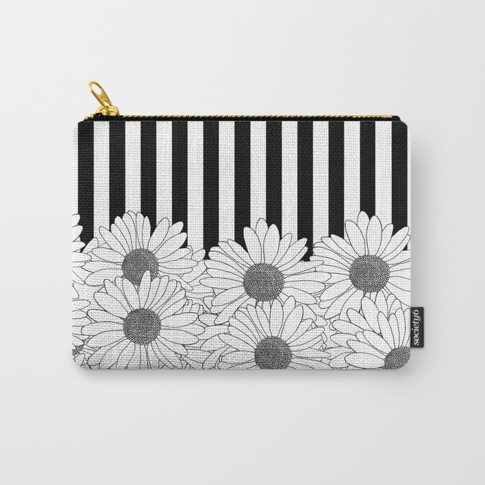 Daisy Stripe Carry-All Pouch