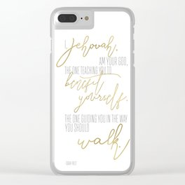 Isaiah 48:17 - Goldie Clear iPhone Case