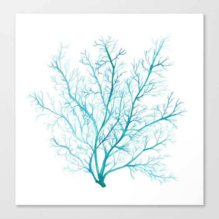 Blue sea fan coral canvas print by sandraovono society6 blue sea fan coral canvas print publicscrutiny Choice Image