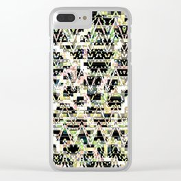 Faded Connections Clear iPhone Case