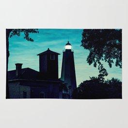 Sandy Hook Light - New Jersey Ligththouses. Rug