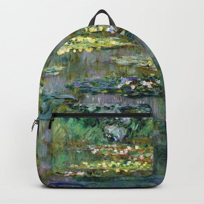 Claude Monet Le Bassin des Nympheas Backpack