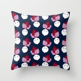 Cute white beetroots Throw Pillow