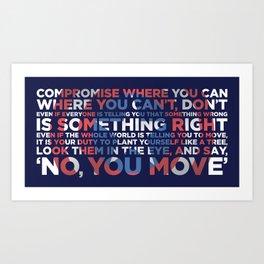 Civil War Quote Art Print