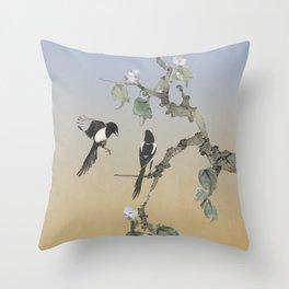 Magpies Throw Pillow