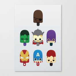 The Avengers: Earth's Mightiest Popsicles Canvas Print