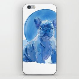 Monochromatic French Bulldog iPhone Skin