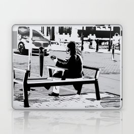 Busking for His Ticket Home  - Guitar Player Laptop & iPad Skin