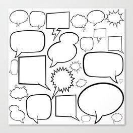 speech balloon white Canvas Print