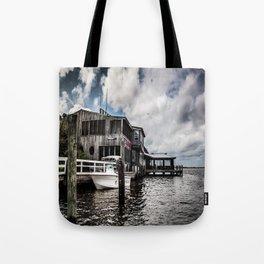 Riverside Dining Tote Bag