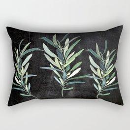 Eucalyptus Branches On Chalkboard Rectangular Pillow