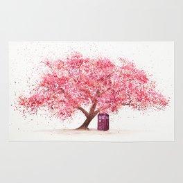 Tardis Art Autumn Tree Blossom Rug