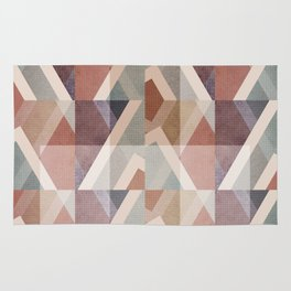 Textured Geometric Abstract Rug