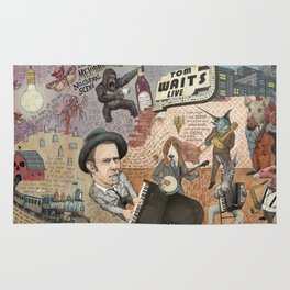 Tom Waits' Melodramatic Nocturnal Scene Rug