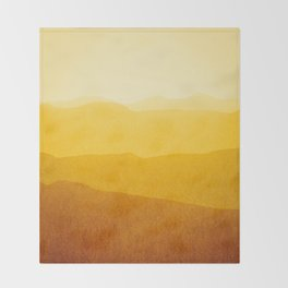 gradient landscape - sunshine edit Throw Blanket