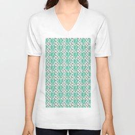 Clover Pattern Green Unisex V-Neck
