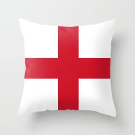 Flag of England (St. George's Cross) - Authentic version to scale and color Throw Pillow