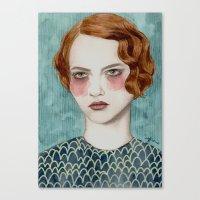 lady gaga Canvas Prints featuring Sasha by Sofia Bonati