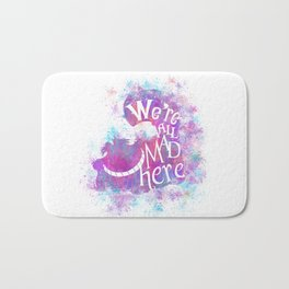 We're All Mad Here - Watercolor Splatter Bath Mat