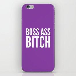 BOSS ASS BITCH (Purple) iPhone Skin
