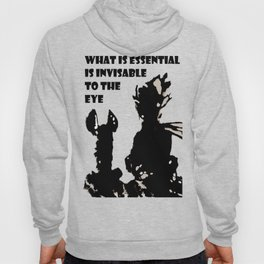 The LITTLE PRINCE and the FOX quote - stencil - grey version Hoody