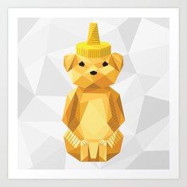 Honey Bear - Geometric Art Print