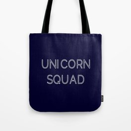 Unicorn Squad - Navy Blue and White Tote Bag