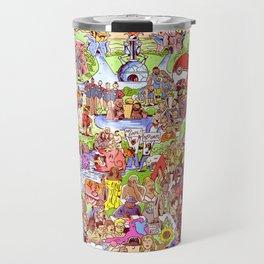 Here's to 2016! Mashup Illustration Collage Travel Mug