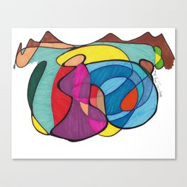 Baby In Tow Canvas Print