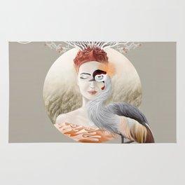 Bird Crane Rug
