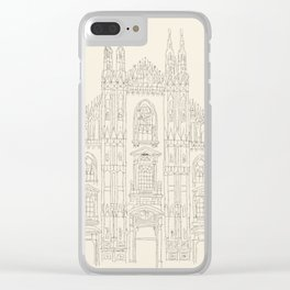 Cathedral of Milan Clear iPhone Case