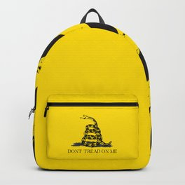 Gadsden flag Don't tread on me yellow and balck Backpack