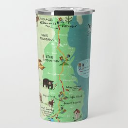 Appalachian Trail Hiking Map Travel Mug