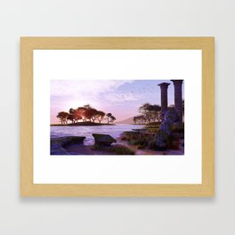 Old Ruined Temple. Framed Art Print