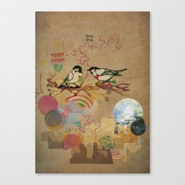 Two Little Birds Canvas Print