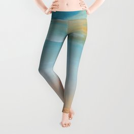 Fresh Colors Painterly Abstract Leggings