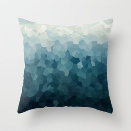 Ice Blue Mountains Moon Love Throw Pillow