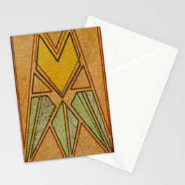 Arts & Crafts style tulip Stationery Cards