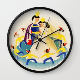 Vintage poster - Snow White Wall Clock