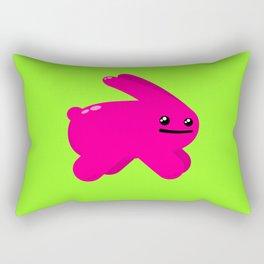 Atomic Pink Bunny Rectangular Pillow