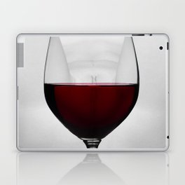 Red wine and naked woman Laptop & iPad Skin