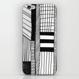 Mono Geo Lines iPhone Skin