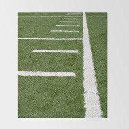 Football Lines Throw Blanket