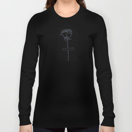 Pasted Rose Long Sleeve T-shirt