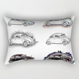 Classic mint green beetle automovil composition Rectangular Pillow