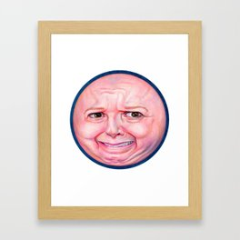 Big Face Framed Art Print