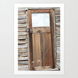 Smokey Lake Farm Door 1 Art Print