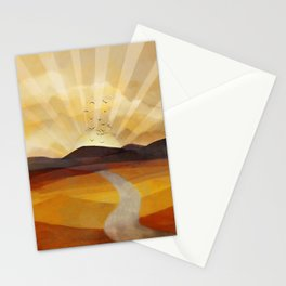 Desert in the Golden Sun Glow II Stationery Cards