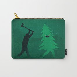 Funny Cartoon Christmas tree is chased by Lumberjack / Run Forrest, Run! Carry-All Pouch