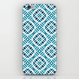 Shibori Watercolour no.7 Turquoise iPhone Skin
